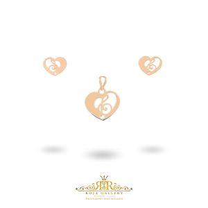 نیم ست قلب و کلید سل - کد V134