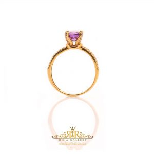 Roja Gold Gallery - Amethyst Solitaire Ring