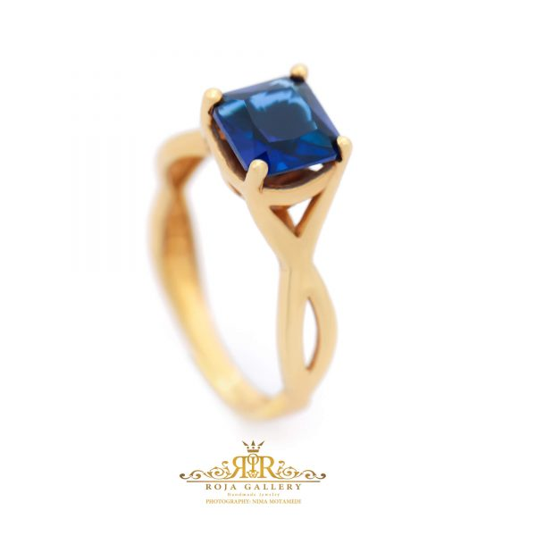 Roja Gold Gallery - Sapphire Solitaire Ring
