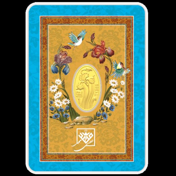 شمش طلای 24 عیار گل زنبق - گالری طلای روژا